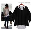 Euro Fashion Loose Casual Short Sleeve T-Shirts Women's Batwing Sleeve Tops