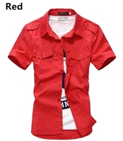 Short Sleeve Shirts Casual Slim Fit