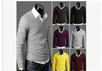 Vintage Premium Stylish Slim Fit V-neck Sweater Jumper Tops Cardigan Knit