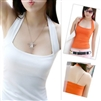 Candy color basic female spaghetti strap vest female spring and summer halter-neck