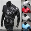 Novelty Dragon Printing Tatoo Male O Neck T Shirts