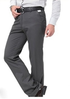 Men's casual full length Business Suit straight cotton pants