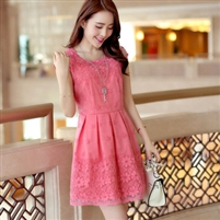 Organza Embroidered Lace Chiffon one-piece dress