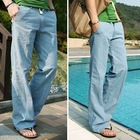 Men's casual and comfortable loose linen trousers