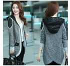 2014 fashion medium-long mm cardigan casual sweater coat wadded jacket S-4XL