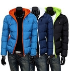 2014 mens winter jacket men's hooded wadded coat