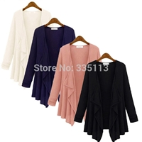 2014 Autumn Women Ladies New Plus Size Oversize Loose Long Sleeve Cardigan Sweater Jacket Outerwear