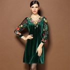 Casual Gown Autumn Dress Women Cheongsam vestidos for lady party evening sexy printed clothing winter fall