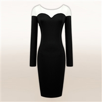 2014 New Arrival Large Plus Size Female OL Patch Autumn/Winter women Slim Long dress