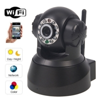 Wireless Wifi Two-way Audio Pan/Tilt P2P IP Camera with Motion Detection Black
