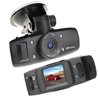 "2.7"" 720P 8 LED 120°Wide Angle Night Vision with 180°Rotatable Dual-Lens Car DVR Recorder Camera F20"