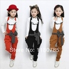 Girls overalls princess sets 2pcs/set lace bow decoration