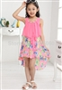 Dovetail fashion floral chiffon Dress