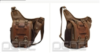 Vintage Canvas Leather Shoulder Military