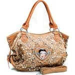 Betty Boop® Shoulder Bag with Rhinestone Florets