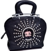 Betty Boop® Rhinestone and Studs Shoulder Bag with Adjustable Shoulder Strap