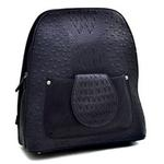 Ostrich and Croco Fusion Textured Mini Backpack
