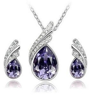 Crystal Water drop Set