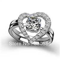 Luxury Hearts Arrows combination love set ring 925 sterling silver