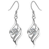 3 Layer Platinum 925 Sterling Silver Earring
