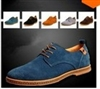 Suede European style genuine leather  oxfords