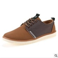 Casual canvas/leather daily men's flats