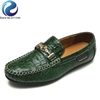 Genuine Leather Crocodile Pattern Loafers