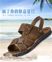 Men's casual leather beach shoes