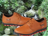 Men Genuine Leather Oxfords Sneakers