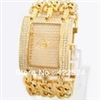 Women Dress Watch With Diamond Stainless Steel Chain