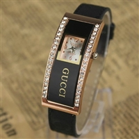 Casual rectangle ladies watch