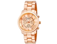 Kingsky 8803 Women dress Round Analog Watch with Stainless Steel Strap (Rose Gold)