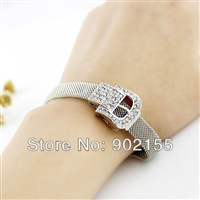Silver Color With Full Rhinestone Belt Design Bracelet