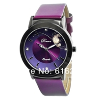Rhinestone Casual Sports Leather Strap Women Watch